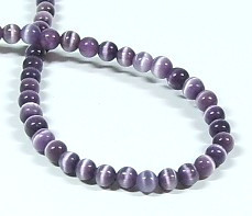 Cat Eye Glasperlen * Rund * Amethyst * Ø 3mm