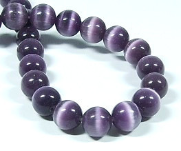 Cat Eye Glasperlen * Rund * Amethyst * Ø 8mm
