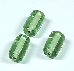 Glasperle * Zylinder * Chrysolite * 14-15x9mm