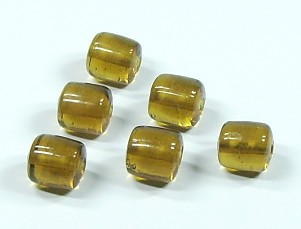 Glasperle * Walze * Light Topaz * 9-10x9mm