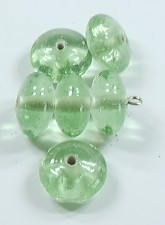 Glasperle * Rondelle / Spacer * Chrysolite * 13-14mm