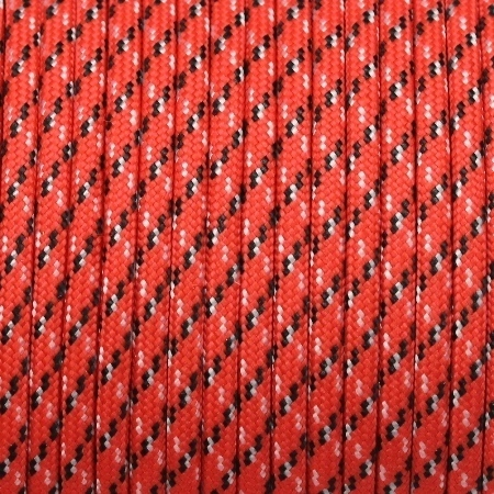 Paracord 550 Typ III ca. 4mm Rot-Schwarz-Weiss
